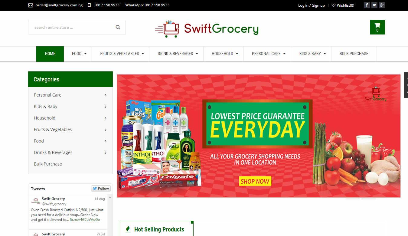 website swiftgrocery.